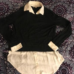 Ann Taylor Loft sweater and blouse combo